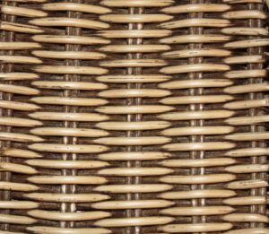 almond coloured rattan