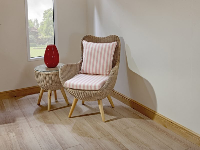 Butterfly almond rattan chair