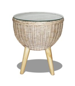 cane butterfly side table