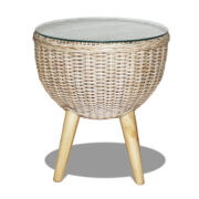 Butterfly rattan side table