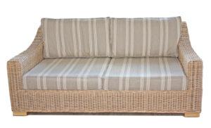 Chambray 2 seat rattan sofa