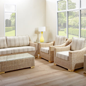 Chambray 3 seat rattan sofa set