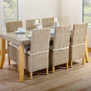 6 person long table set