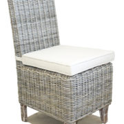 CHAMBRAY DINING CHAIR KUBU GREY