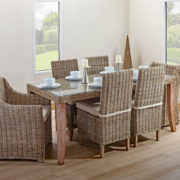 6 person dining table set
