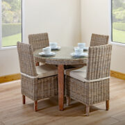 CHAMBRAY ROUND DINING KUBU GREY