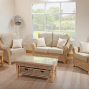 fresco 3 seat rattan sofa set
