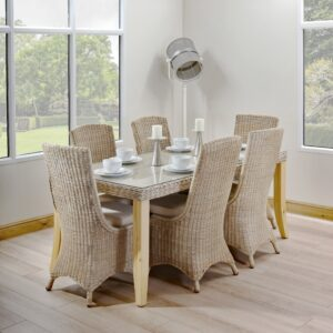 6 seat set table and chairs