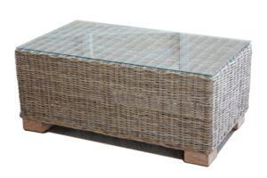 Kasami rattan rectangular coffee table