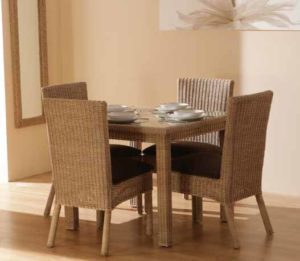indoor cane dining set