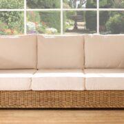 Modena 3 seat rattan sofa